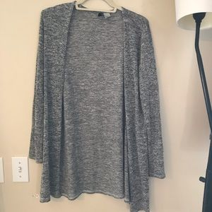 Longline Marbled/Heather Grey Cardigan